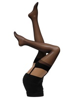 Cette Cristal Black Plain Stockings