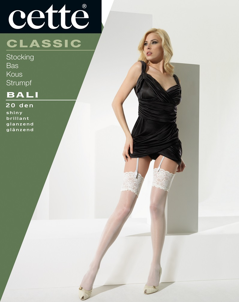 BALI Lace Top Stockings - Black