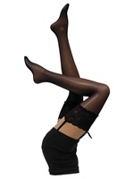 Cette Bali Black Lace Top Stockings