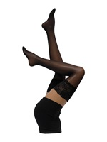 Cette Paris Black Lace Top Hold Ups