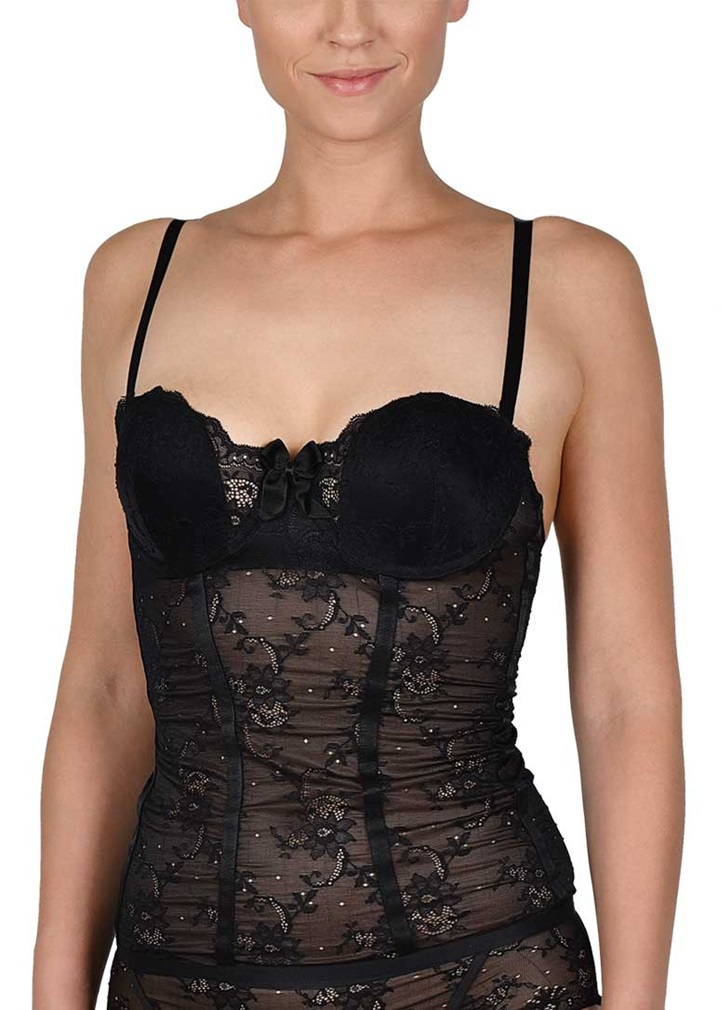 SOFT SHAPE Strapless Basque - Black