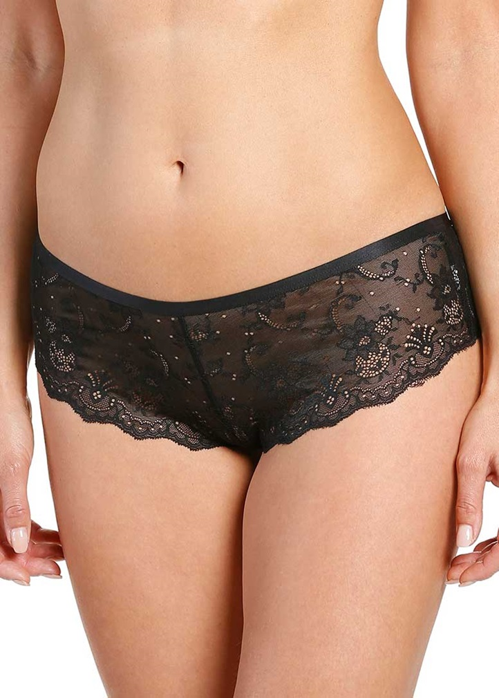 SOFT SHAPE Lace Short - Black