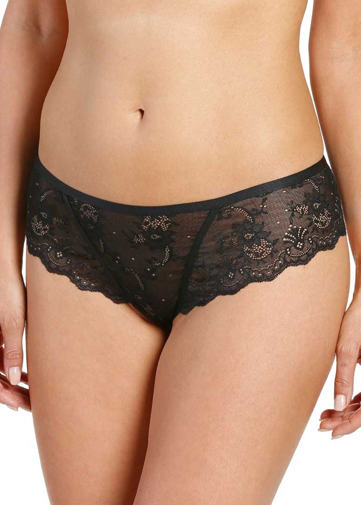 SOFT SHAPE Lace Thong - Black