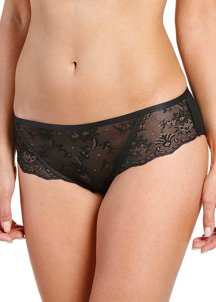 SOFT SHAPE Lace Brief - Black
