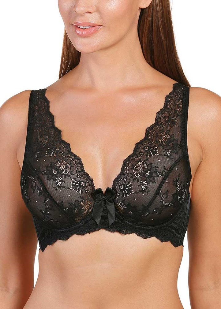 SOFT SHAPE High Apex Underwired Bra - Black