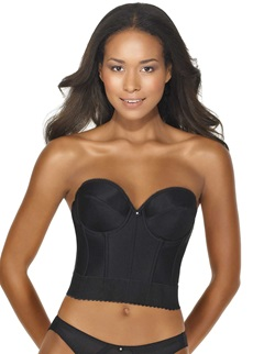 NOEMI Low Back Strapless Basque - Black