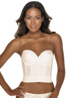 NOEMI Low Back Strapless Basque - Ivory