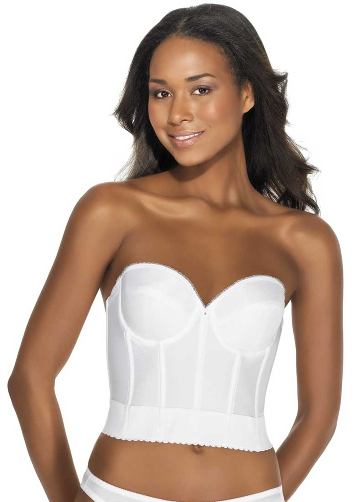 NOEMI Low Back Strapless Basque - White