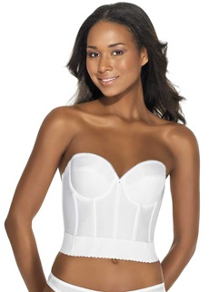 Dominique Noemi White Low Back Strapless Basque