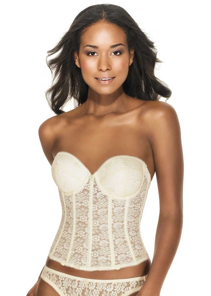 HANNAH Push Up Basque - Ivory
