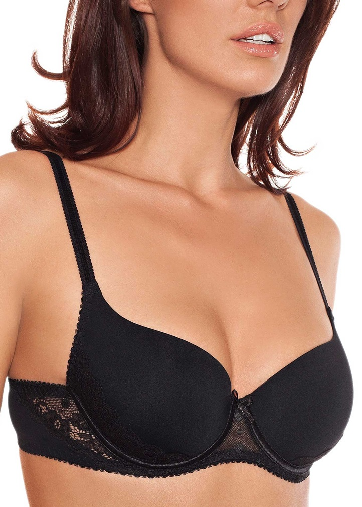 IRINA Soft Foam Cup T-Shirt Bra- Black