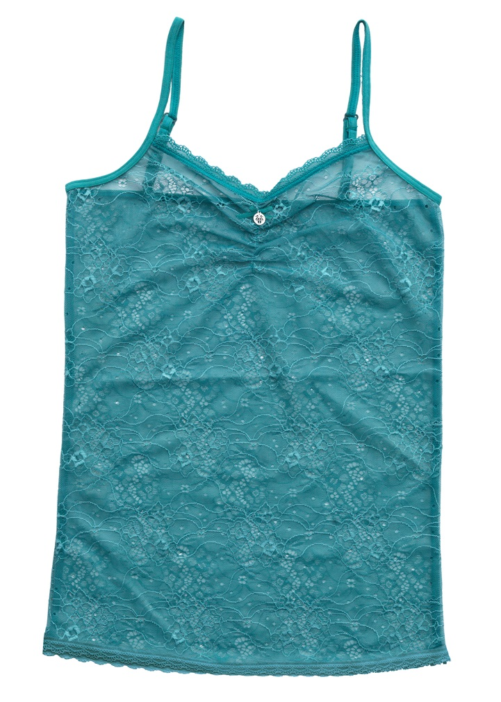 NOIR Full Lace Camisole - Green