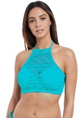 Freya Sundance Deep Ocean High Neck Crop Bikini Top