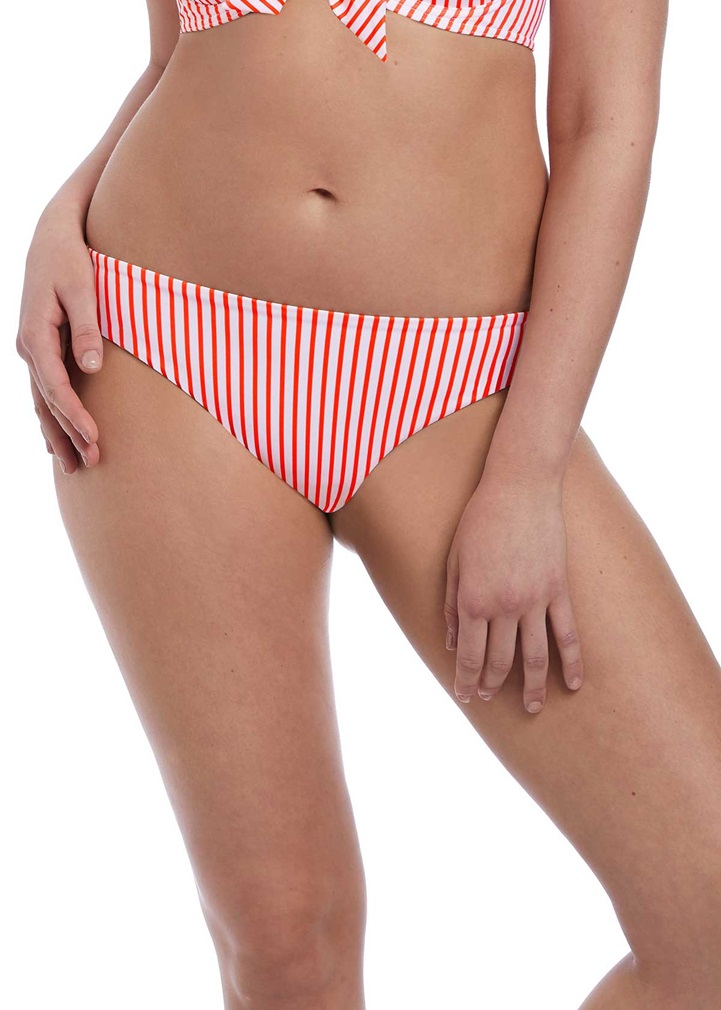 TOTALLY STRIPE Bikini Brief - Flame