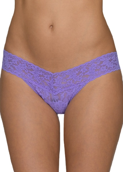 SIGNATURE LACE Low Rise Thong - Electric Orchid
