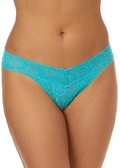 SIGNATURE LACE Low Rise Thong - Beau Blue