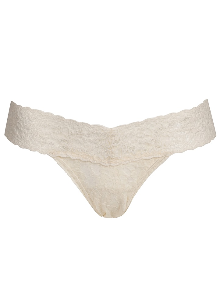 SIGNATURE LACE Low Rise Thong - Ivory