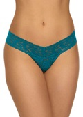 SIGNATURE LACE Low Rise Thong - Moodstone Green