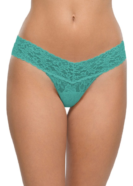 SIGNATURE LACE Low Rise Thong - Seabreeze