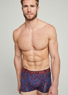 Jockey Active Red Print Trunk 2 Pack
