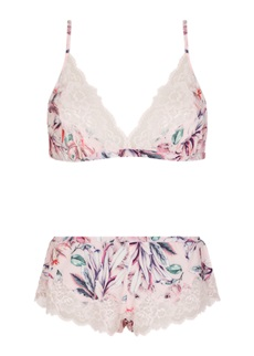 POPSICLE Triangle Bra & French Knicker Set