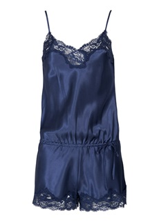 LingaDore Yasmina Midnight Satin Playsuit