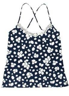 Mish London Leafy Print Camisole Top
