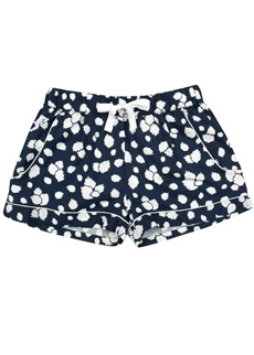 LEAFY PRINT Cotton Short