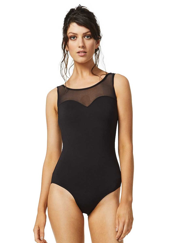 CONTOURS Mesh Neck Swimsuit