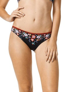 Piha Garden Delight Black Bikini Brief