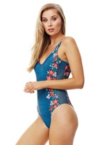 GLASTONBURY Side Mesh Swimsuit