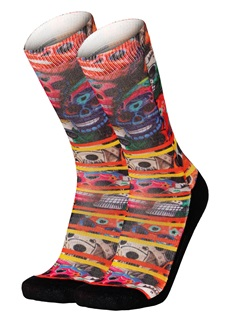 Pullin Skull Mexico Long Socks