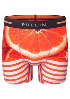 Pullin Orange Stripe Cotton Boxer Short