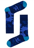 Drake & Hutch Navy Camouflage Sock