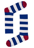 Drake & Hutch Blue Stripe Sock
