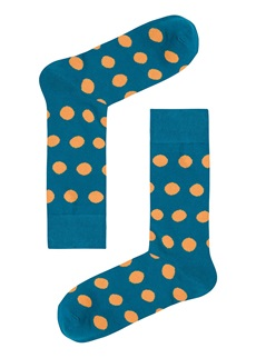 ORANGE POLKA Sock