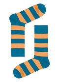 Drake & Hutch Orange Stripe Sock
