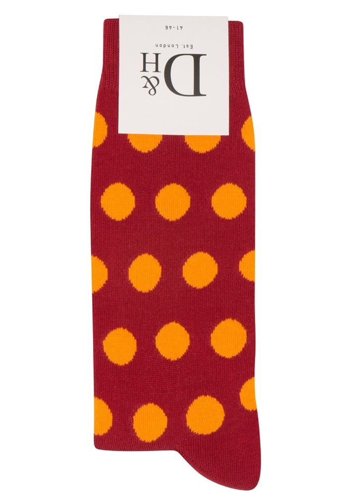RED POLKA Sock