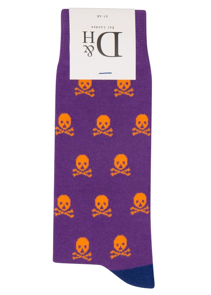 PURPLE SKULL Sock
