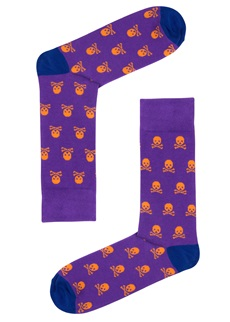 Drake & Hutch Purple Skull Sock