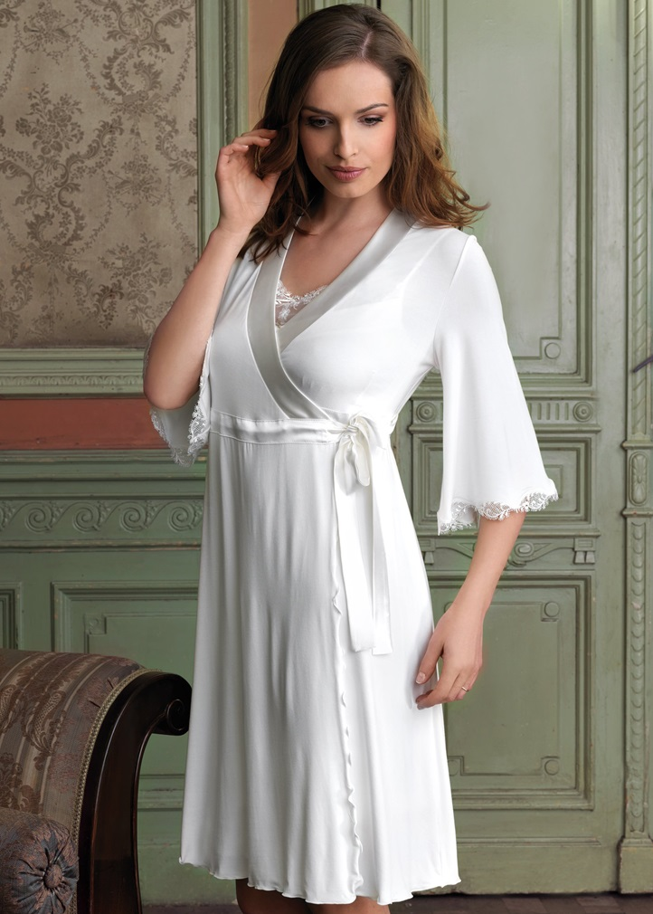 VANILLA Dressing Gown - Ivory