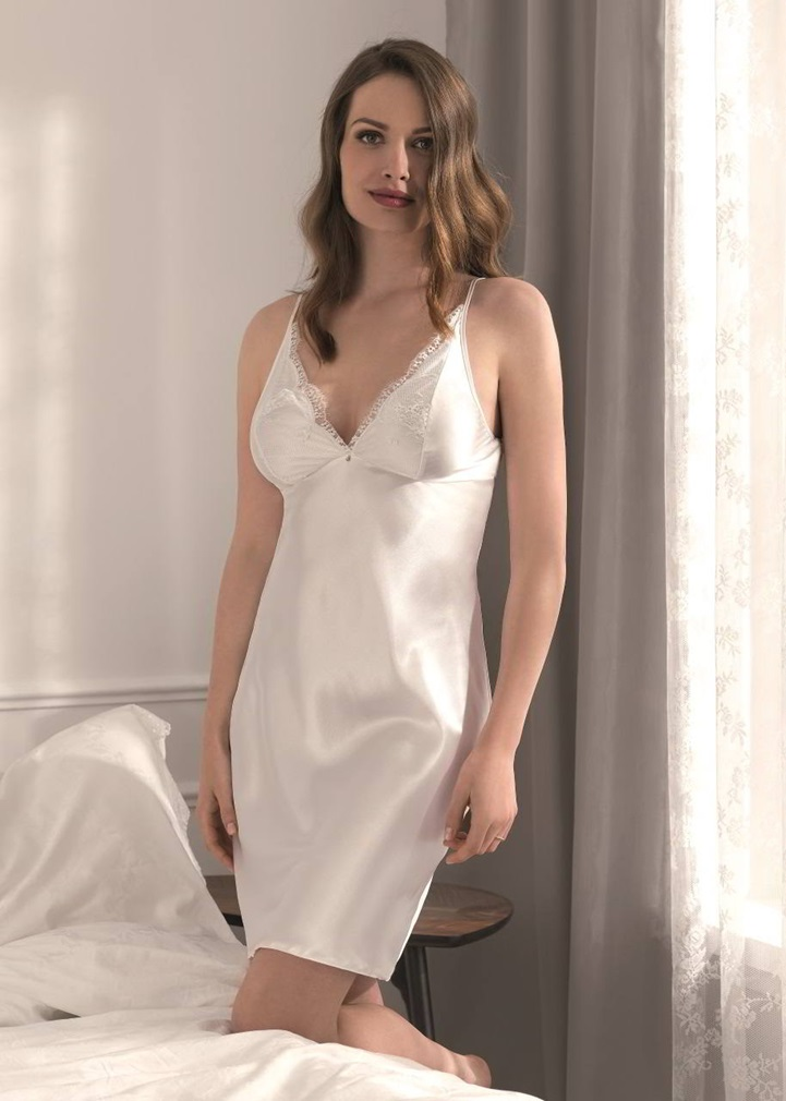 VANILLA Satin Nightdress - Ivory