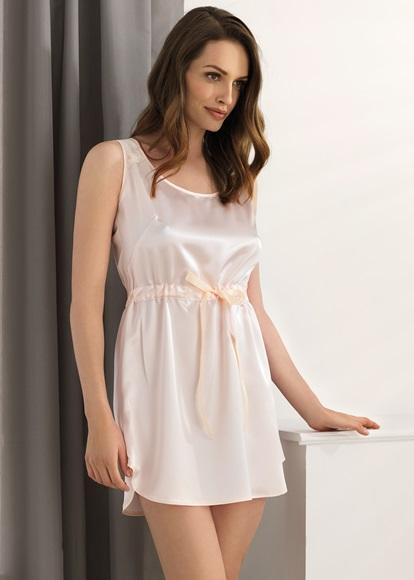 Vanilla Peach Satin Nightdress - Vanilla Night   Day  68b30851d223c