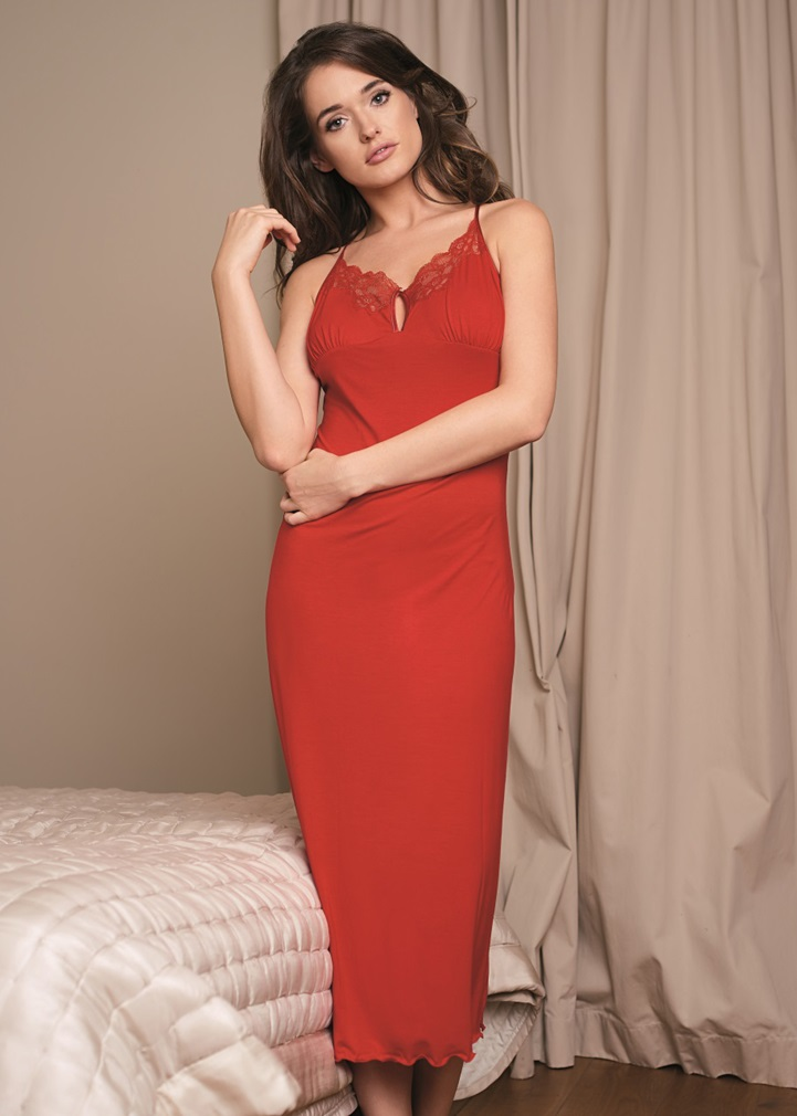VANILLA Long Red Nightdress
