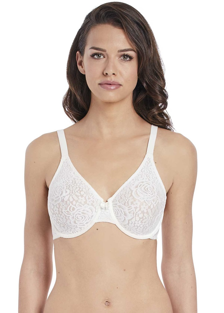 HALO LACE- Underwired Bra - Ivory