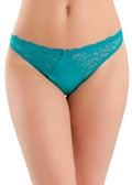 B.Tempt'd B.Gorgeous Tile Blue Thong