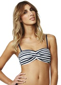 BRUSH OFF Twist Bandeau Bikini Top