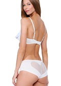 Dear Drew Heart Mesh White Brief
