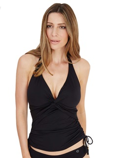 Lepel Lagoon Black Halter Tankini Top