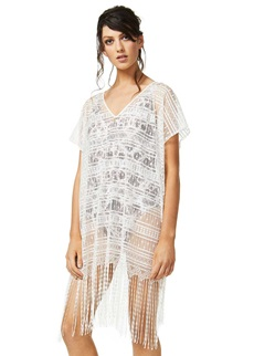 Moontide V-Neck White Cover Up